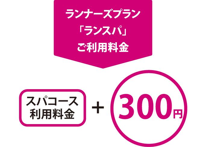 スパコース利用料金+300円でランナーズプランをご利用いただけます